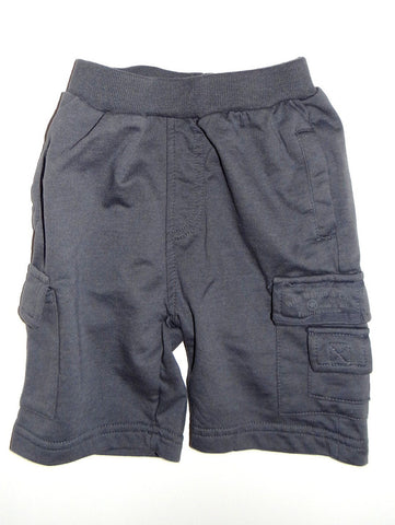 Wild Mango Grey French Terry Cargo Shorts