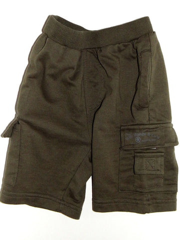 Wild Mango Olive French Terry Cargo Shorts