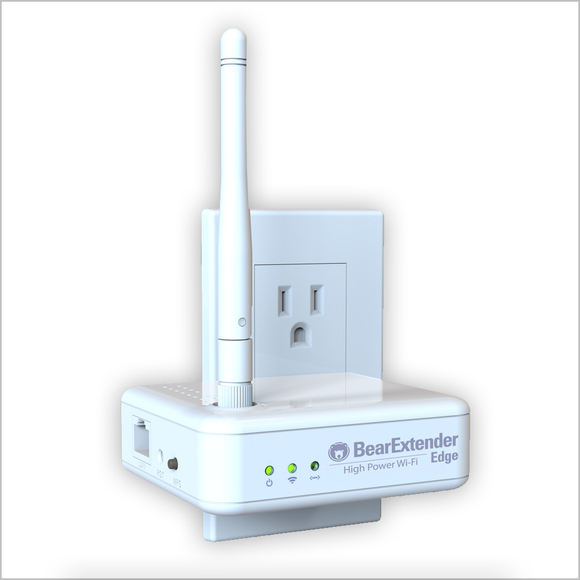 BearExtender Edge Long Range Single Point (non-Mesh) Wi-Fi Repeater with RP-SMA Antenna