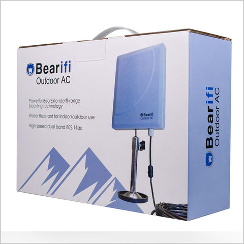 Bearifi BearExtender Outdoor AC 802.11ac Dual Band 2.4//5 GHz High Power USB Wi-Fi Extender Antenna PCs