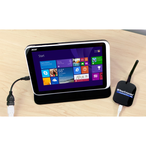 use bearextender with a windows 8 tablet