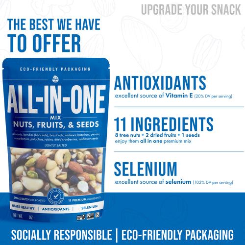 All-In-One Mix -Nuts, Fruits, & Seeds (8oz)