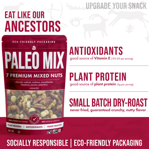 Paleo Mix - 7 Premium Mixed Nuts (8oz)
