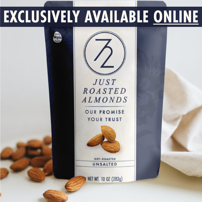 *ORDER NOW* 72 hour Just Roasted Almonds (Unsalted - 2, 4, & 8 Pack)