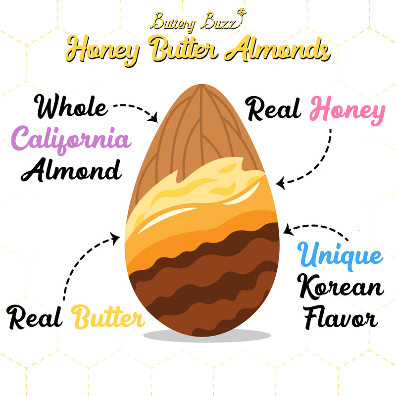 Buttery Buzz | Honey Butter Almonds (14 OZ)