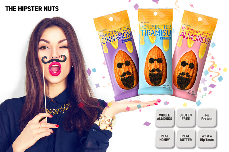 THE HIPSTER ALMONDS (HONEY + BUTTER COATED ALMONDS)