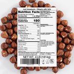 HAZELNUTS with SKIN (LIGHTLY ROASTED, 4LB)