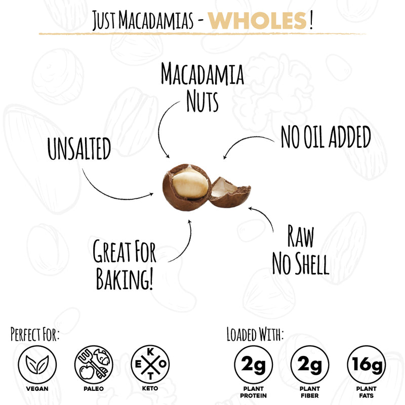 RAW MACADAMIA NUTS (WHOLES | 48 OZ)