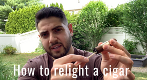 How to relight a cigar
