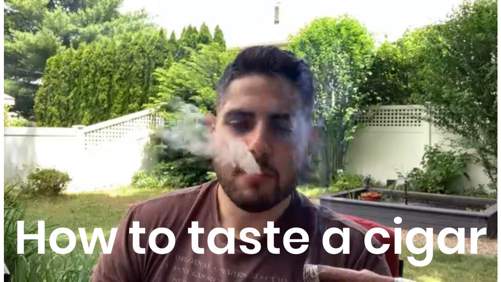 How to taste a cigar!