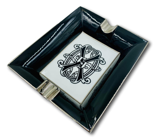 OPUS X Black and White Bone China Ashtray
