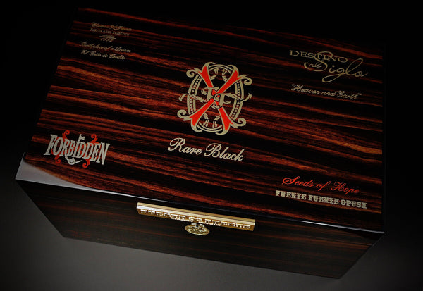 2020 Limited Edition Opus X Rare Black Macassar Humidor