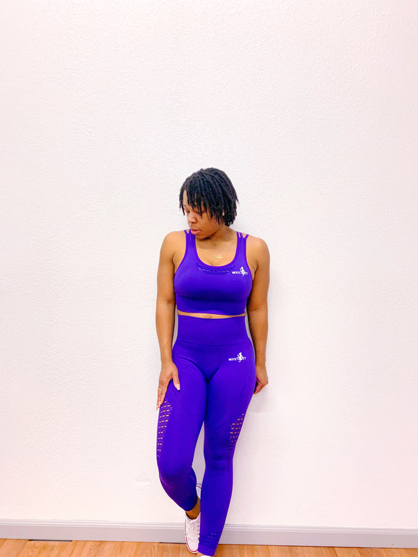 Curvy Fit Seamless Leggings- Purple