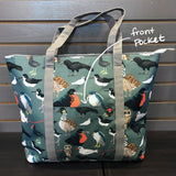 tote bag front pocket