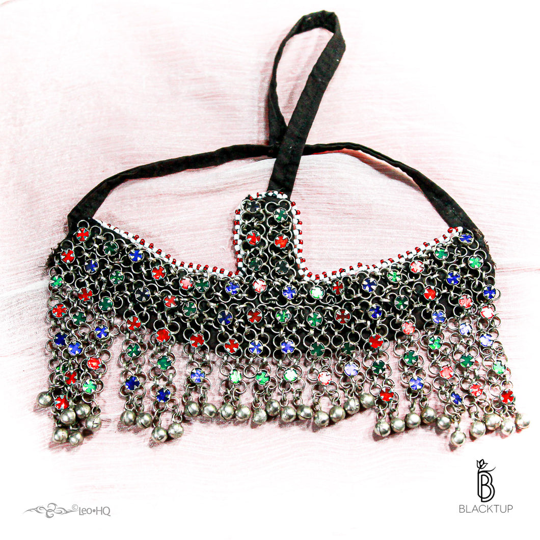 TOCADO / HEADDRESS TRIBAL KUCHI COLORES