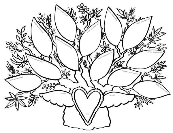 FREE Printable Coloring Page - 4 Generations