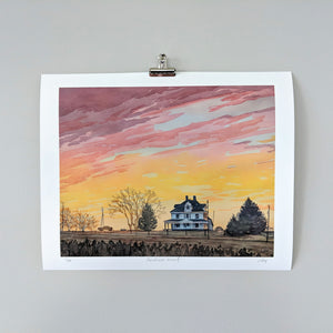 Farmhouse Sunset, 2018