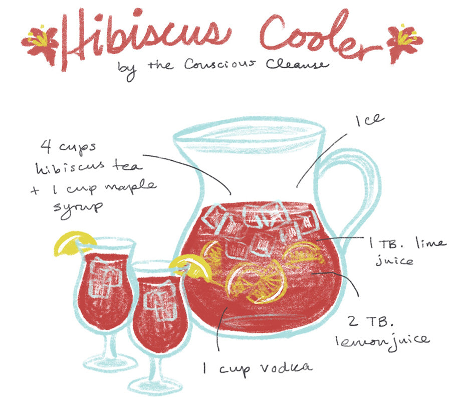 hibiscus cooler cocktail