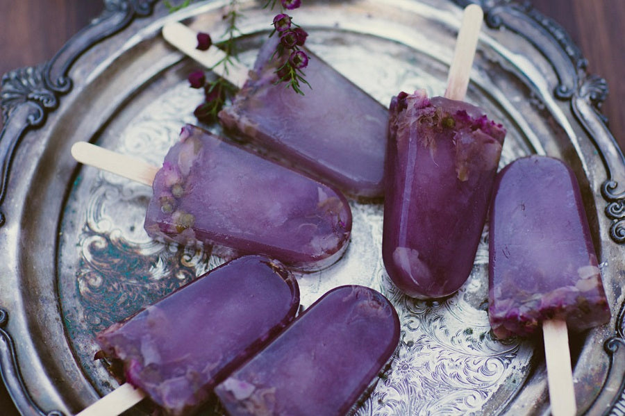Popsicles infused with Rosebuds and Petals tea