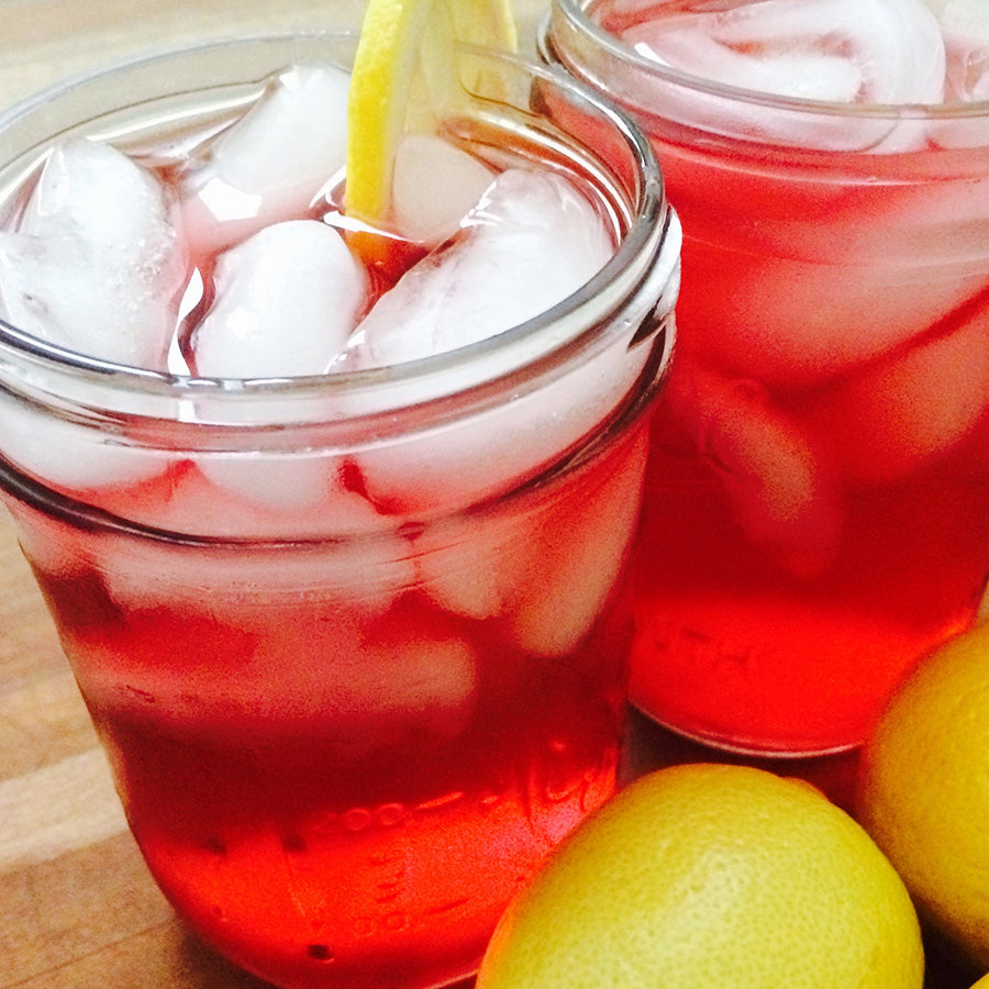 hibiscus cooler mocktail
