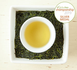 Award-Winning Japanese Orchid Sencha Tea Steeped