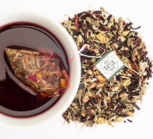 Load image into Gallery viewer, Flat Belly Hibiscus Cucumber Steeped Tea Sachet