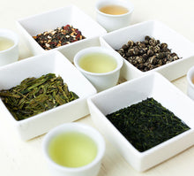 Load image into Gallery viewer, Green Tea Sampler Steeped