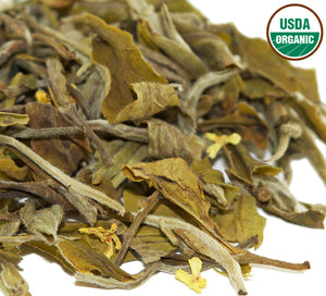 Natural Glow - Organic White Tea with Osmanthus Flowers Loose Leaf
