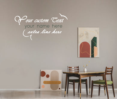 Custom Dining Room Art | Removable Vinyl Wall Decal | Home Decor