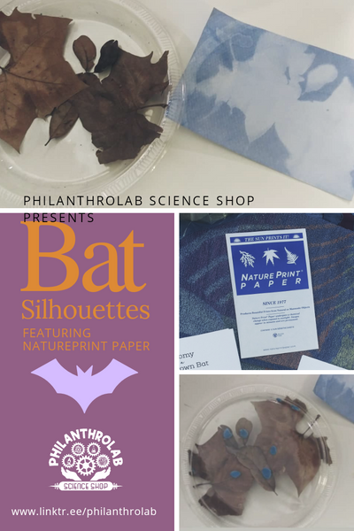 Bat Silhouettes Featuring NaturePrint Paper