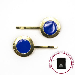 Chanel - Royal Blue Circle Hair Slides