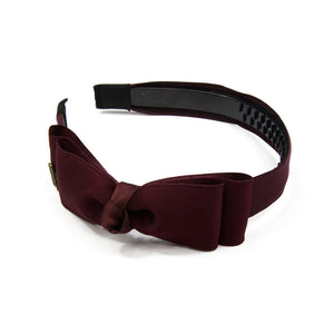 Kerrie - Wine Red Satin Knot Hairband