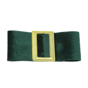 Francesca - Hunter Green Buckle Hair Clip - Clip B