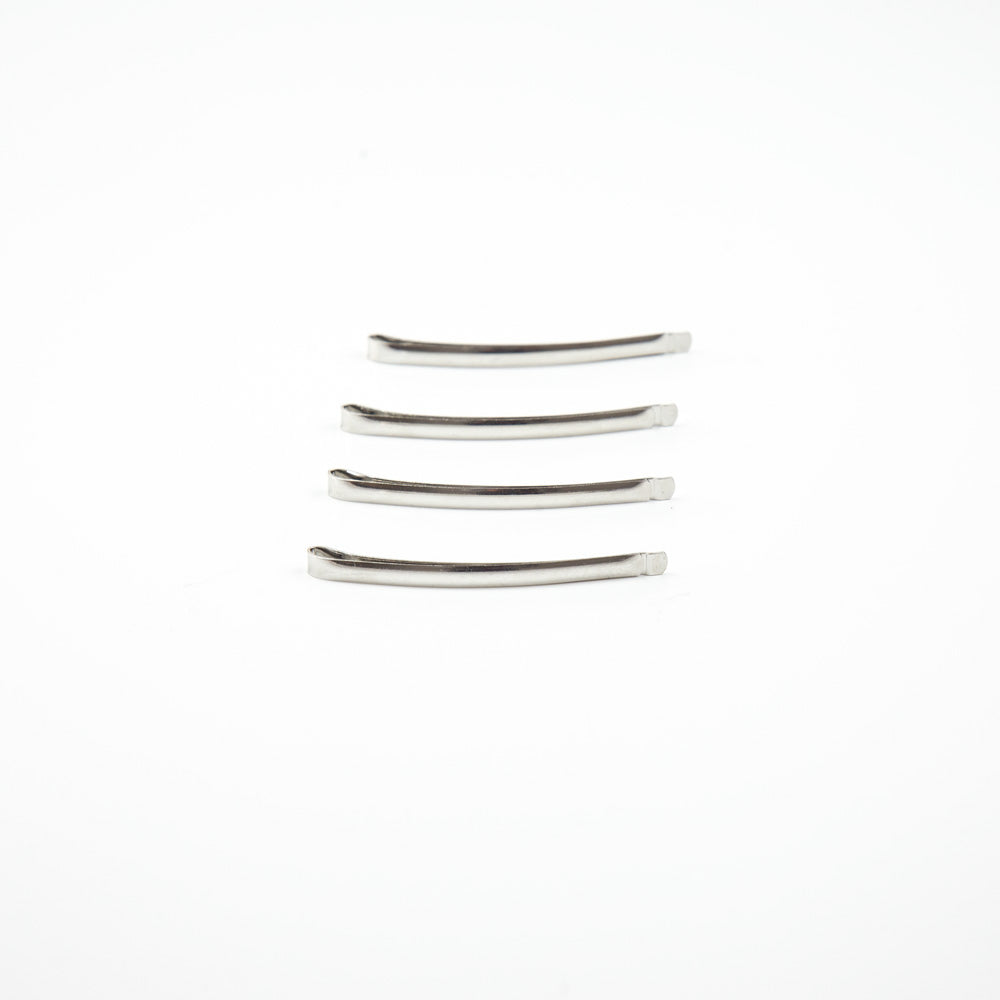 Hair Slides - Silver Pack of 4