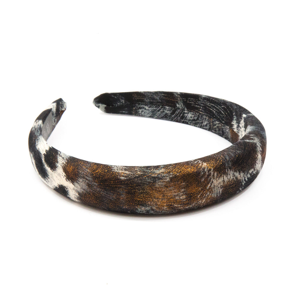 Zoe - Metallic Animal Print Hairband 3cm