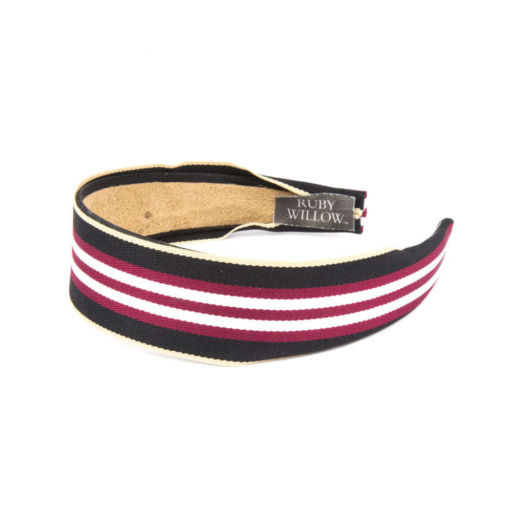 Adonia - Black/Red Striped Hairband