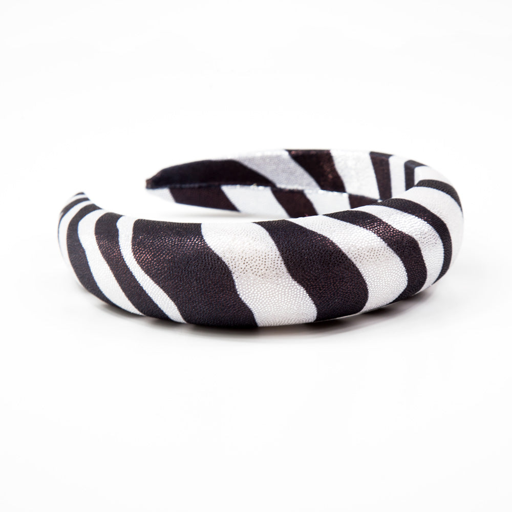 Panache - Black/Silver Animal Print 4cm Hairband