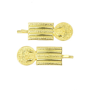 Virginia - Gold Coin Hair Slides