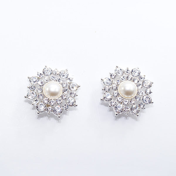 Bethany - Silver/Pearl Shoe Clips
