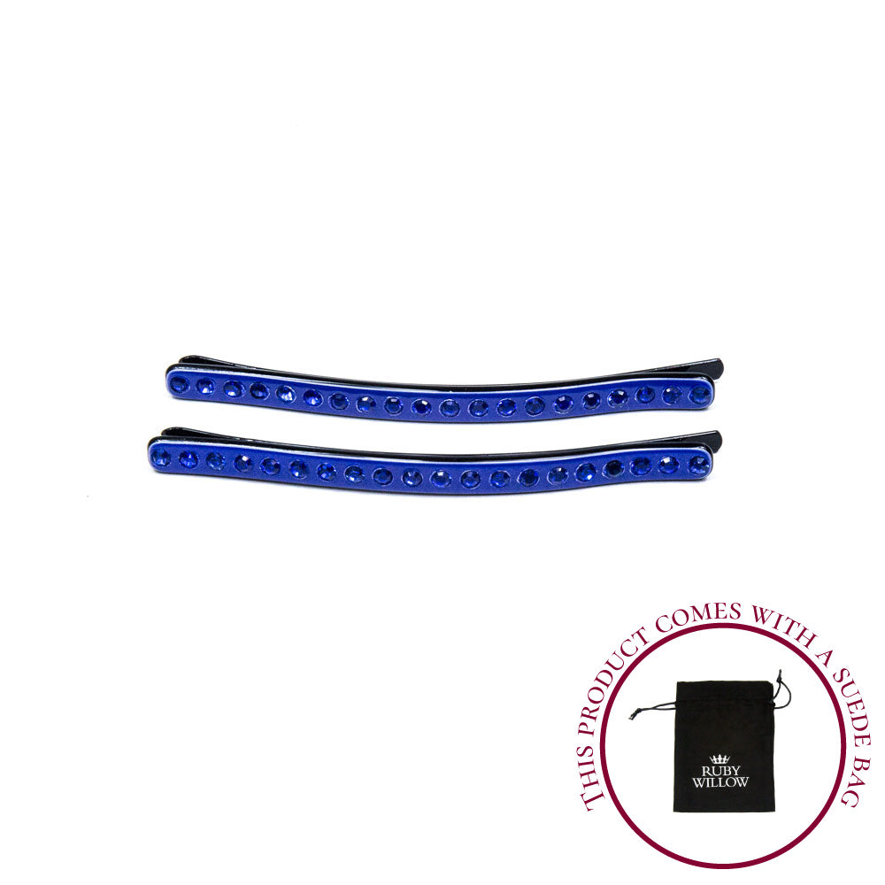 Cecily - Royal Blue Acetate Hair Slides
