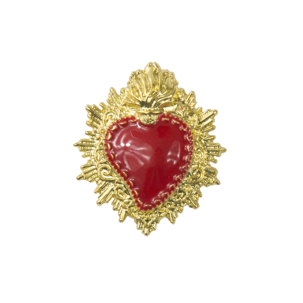Paloma - Gold & Red Vintage Brooch
