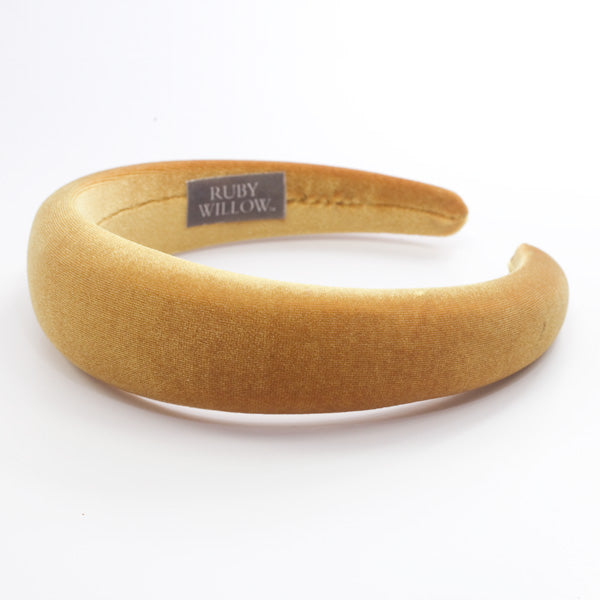 Danielle - Gold Velvet Hairband 4cm