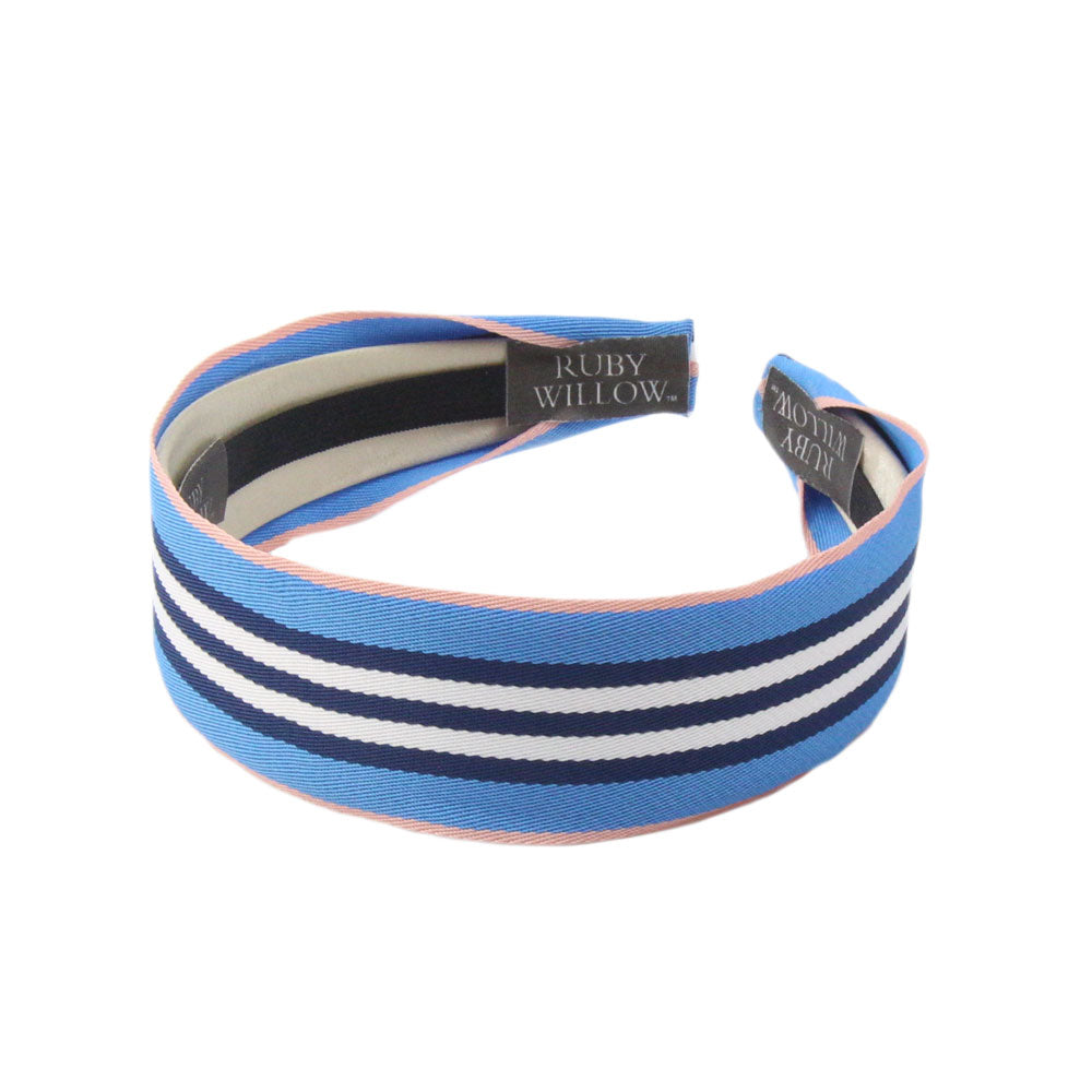 Adonia - Navy/Blue Striped Hairband