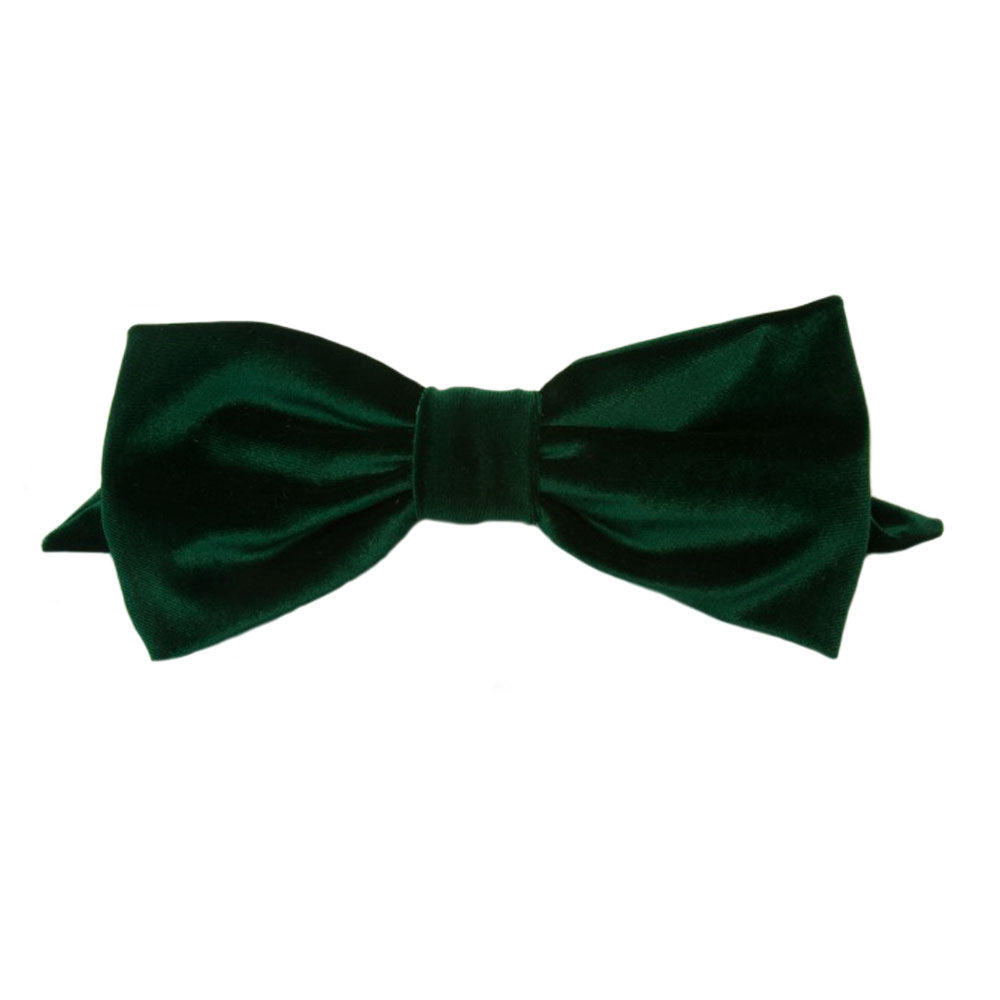 Alexandra - Hunter Green Velvet Bow - Clip A