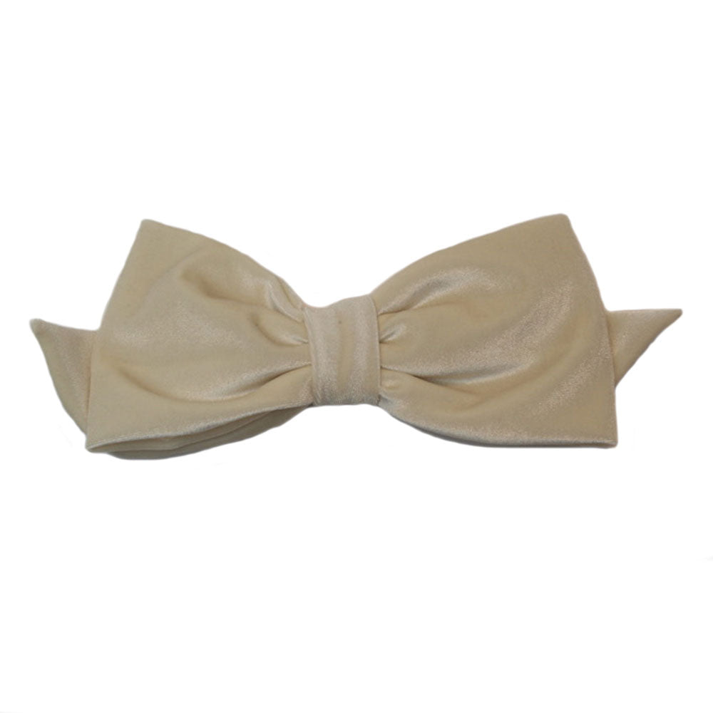 Alexandra - Winter White Velvet Bow - Clip A