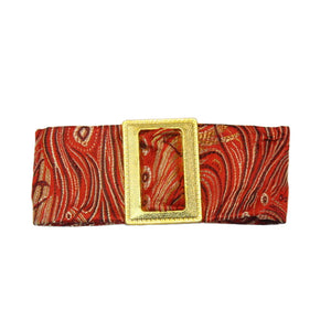 Francesca - Red Peacock Buckle Hair Clip - Clip A
