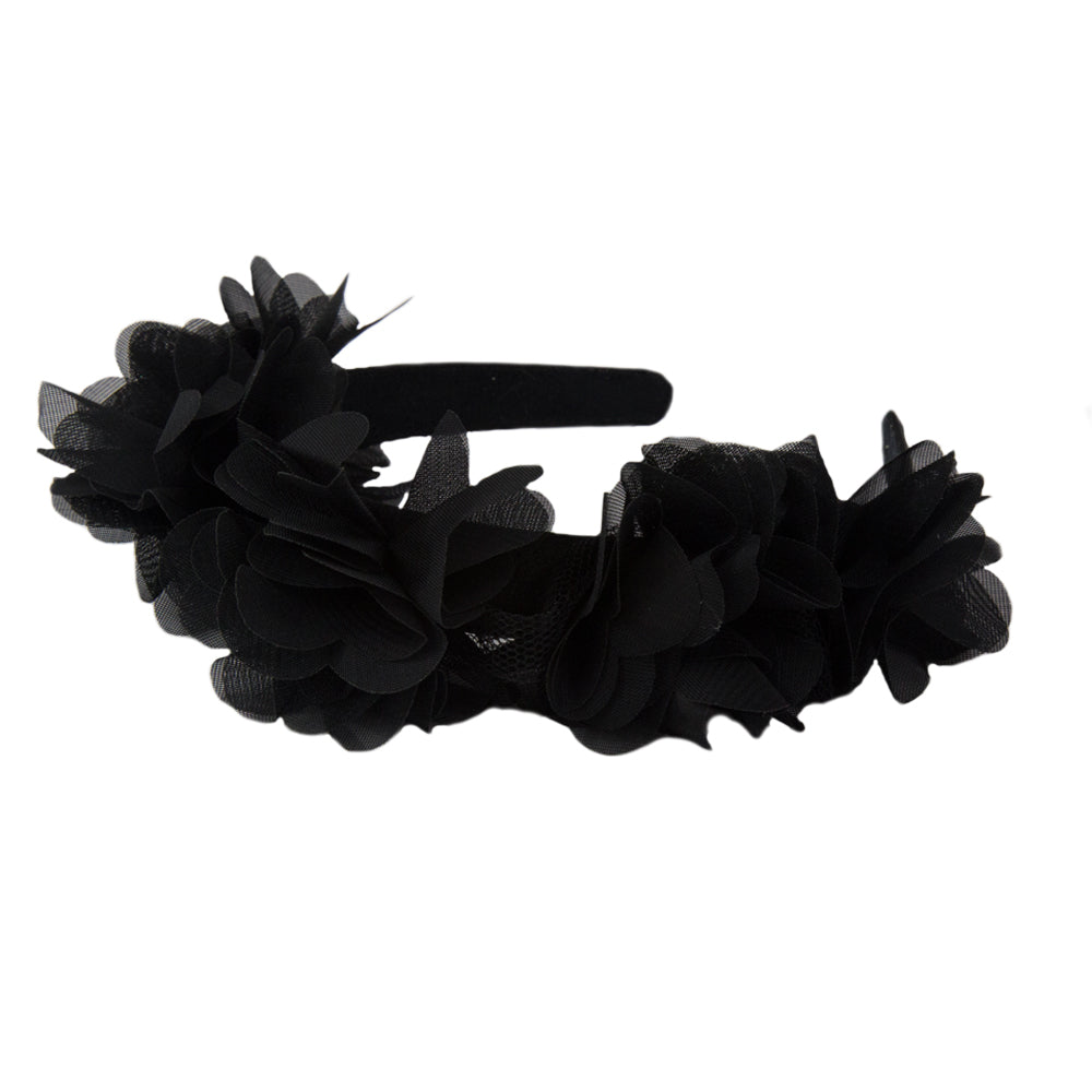 Lucy - Black Flower Girls Hairband