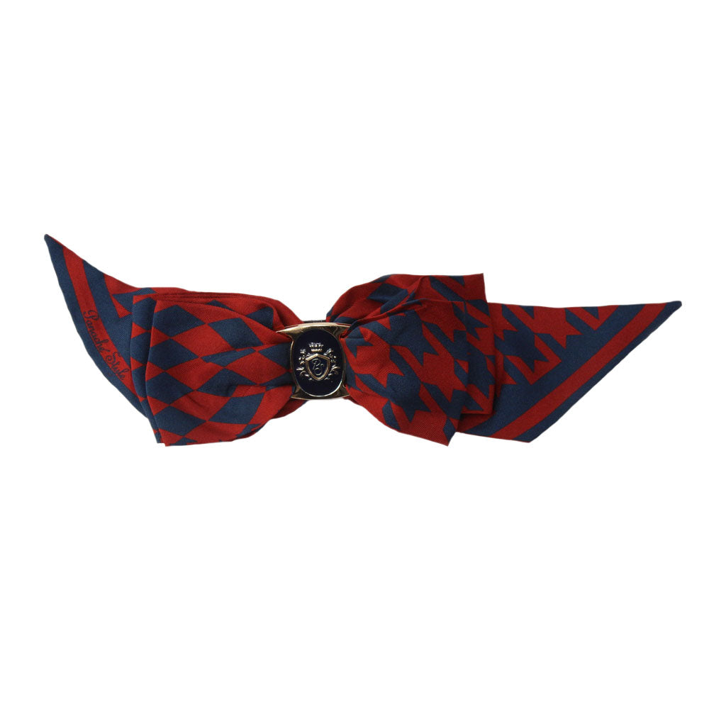 Panache Maria - Navy/Red 'Dogtooth Tradition' Bow