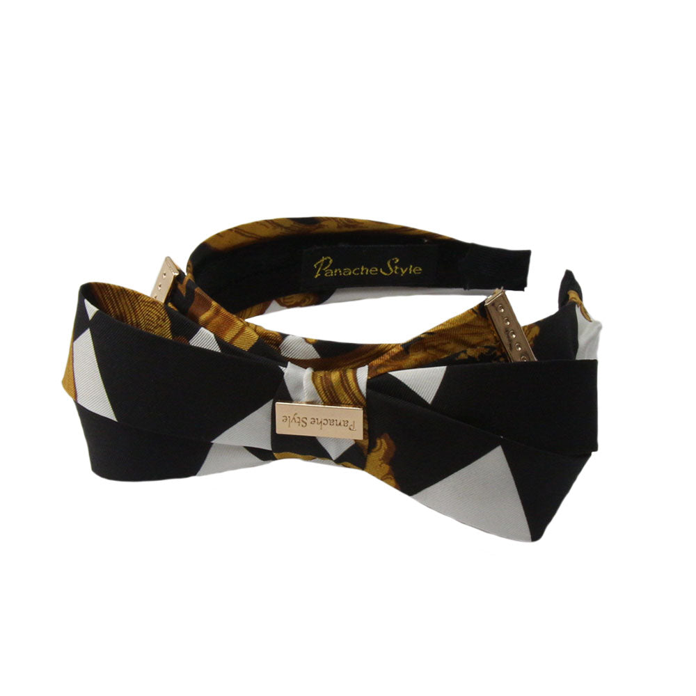 Panache Antonia - Black/White 'Dogtooth Tradition' Hairband