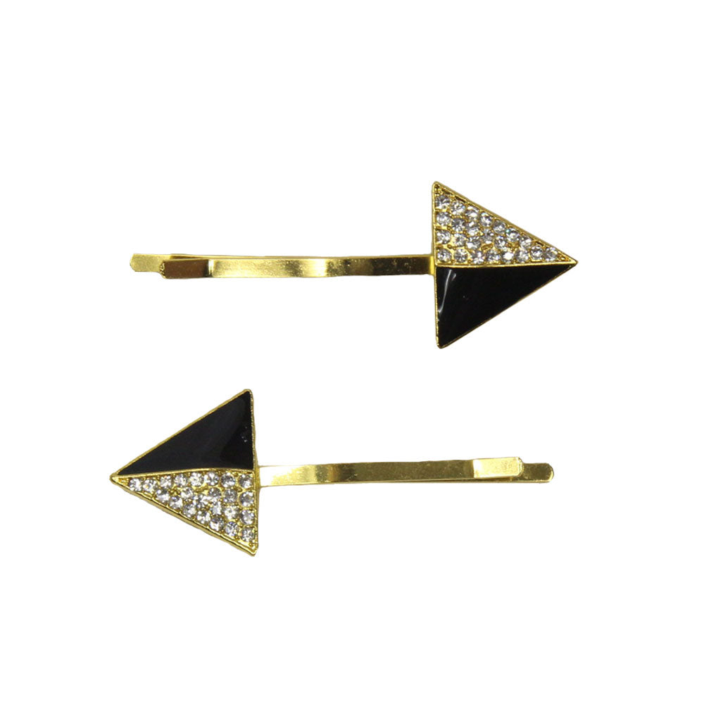 Maisie - Black Triangle Hair Slides